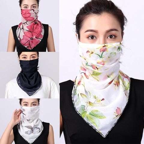 Women Choffin Face Mouth scarf Sun Protection Scarves Neck Cover Solid Hiking Riding Ring Wraps 2020 Desiner Print