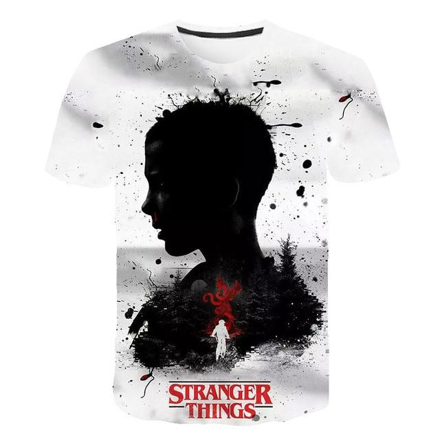 2020 3D Stranger Things boys clothes New Brand O-Neck T Shirt Men Funny T-shirt casual Summer kids clothes Streetwear Tops Tees