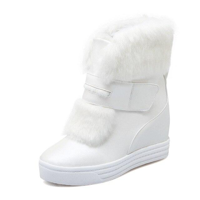 Winter Woman Ankle Boots Fur Platform Snow Boot Ladies Plush Sneakers Flat Casual Shoes Woman Footwear Plus size  34-43 - Express Monde