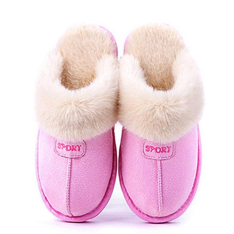 Slippers Women Winter Indoor for Rome Fur Warm Fashion Flats 2019 Fashion Ladies Home Inside Big Size Men Shoes Hot Sale Plush - Express Monde