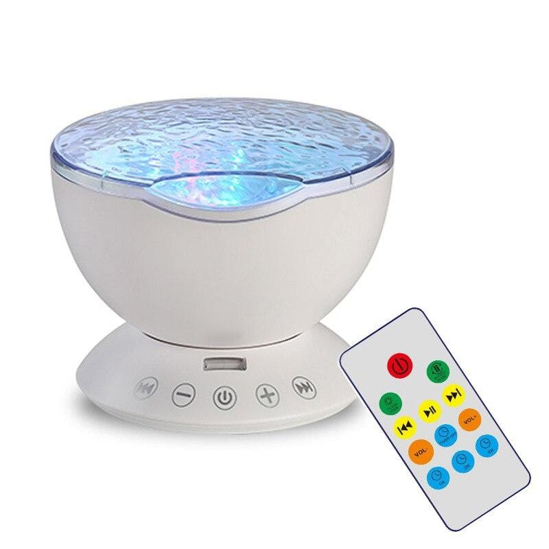Mini Music Player night lamp Projection Lamp Colorful Sleep Automatic rotation Projector Creative USB Ocean Wave Projector