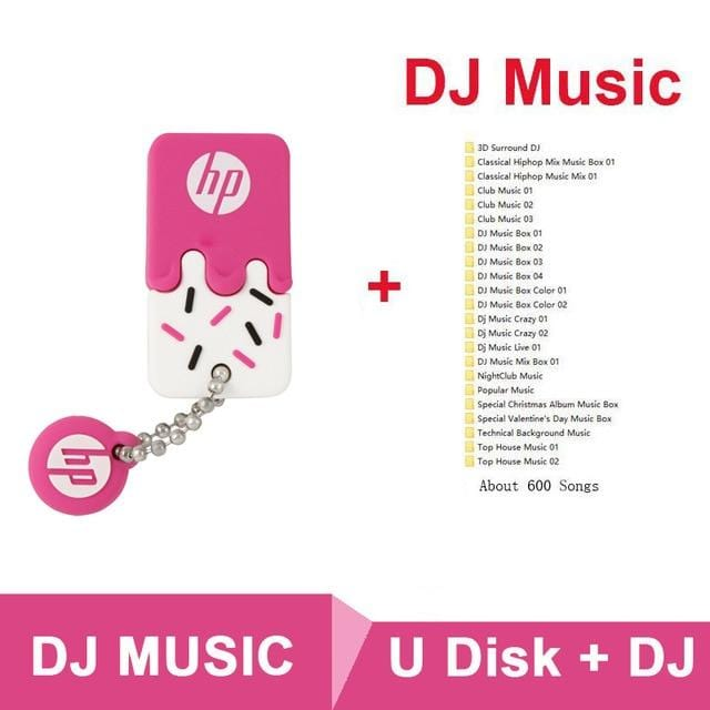 Original HP Wholesale Memory Stick 16GB 32GB 64GB Dropshipping USB Flash Drive Waterproof Silicone Cute Cle USB2.0 Pendrive 32G