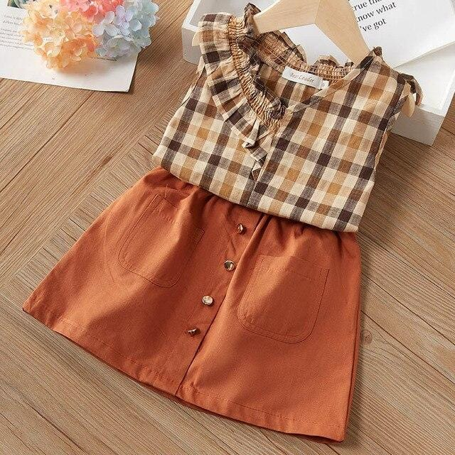 Bear Leader Girls Clothes Set Kids Set New Summer Children Clothing Short Sleeve T-shirt Print Pants 2Pcs Set Fashion Kids Suits