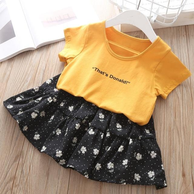 Summer Girl's Clothes 2 4 6 8 Years Kids Cactus T-shirt+Lace Tutu Dress 2Piece Sets Fashion Summer Girls Set Children Clothing