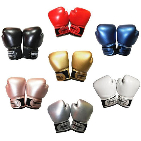 1 Pair Kids Children Boxing Gloves Professional Mesh Breathable PU Leather Flame Gloves MMA Sanda Boxing Training Kids Equipment