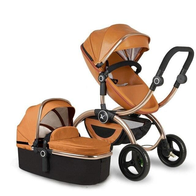 Free shipping 2020 Kuudy new Luxury Carriage Higher Land-scape Golden baby 3 in 1 Portable Folding Stroller newborn