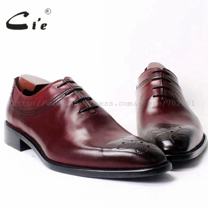 cie Square Toe Lace-Up Oxfords Plain Toe 100%Genuine Calf Leather Mackay Stitching Outsole Breathable Bespoke Mens Shoe OX327