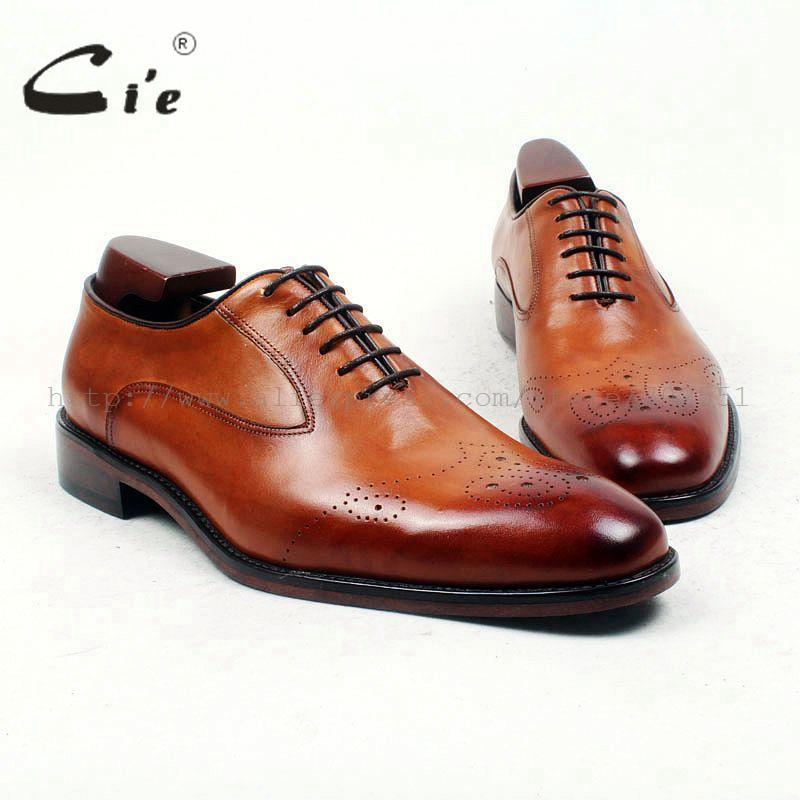 cie Free Shipping Bespoke Custom Handmade Men's Calf Leather Dress Color Brown Shoe No.OX436 Color Can be Changed as You Want