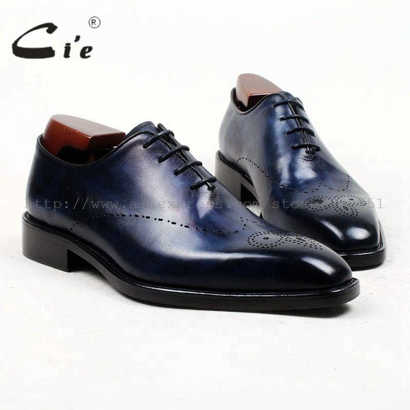 cie square toe whole cut full brogues medallion handmade men shoe bespoke leather shoe genuine calf leather men's dress OX448