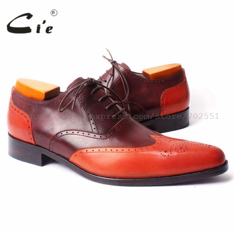 cie pointed toe mixed colors bespoke custom handmade pure genuine calf leather outsole breathable men's dress oxford shoe OX301