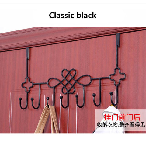 High quality Creative Chinese Knot Avoid perforation Wall hook Thicken Multifunction Door Storage Coat hooks wall mounted