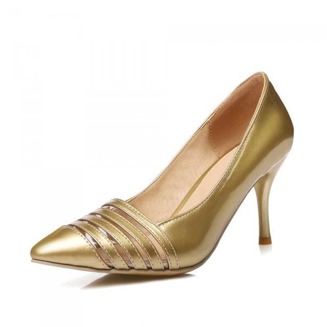 Dames Schoenen Sale Medium(b,m) Sapato Feminino 2017 New Pumps High-heeled Shoes Heels Pointed Toe Women's Prom Size 34-45 8-1