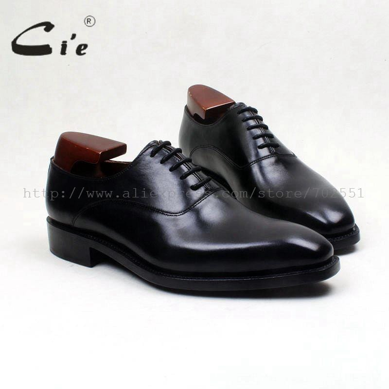 cie Free Shipping Genuine Calf Leather Upper Inner Outsole Bespoke Handmade Work Men's Dress Oxford Color Black Shoe No.OX571