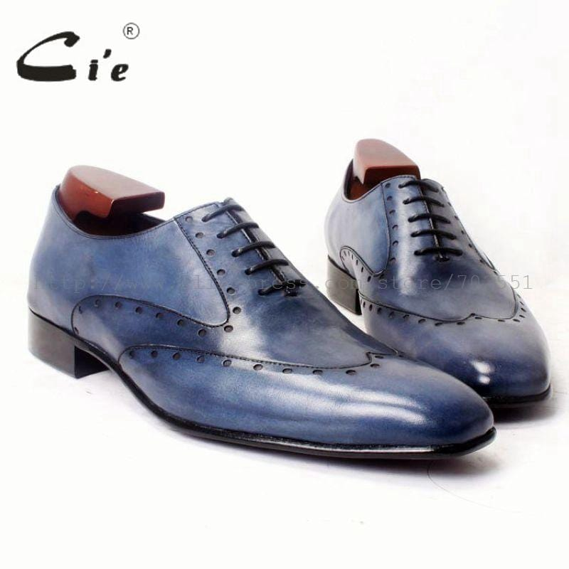 cie square toe hand-painted men oxfords leather shoe bespoke custom handmade pure leather men leather high quality shoe ox366