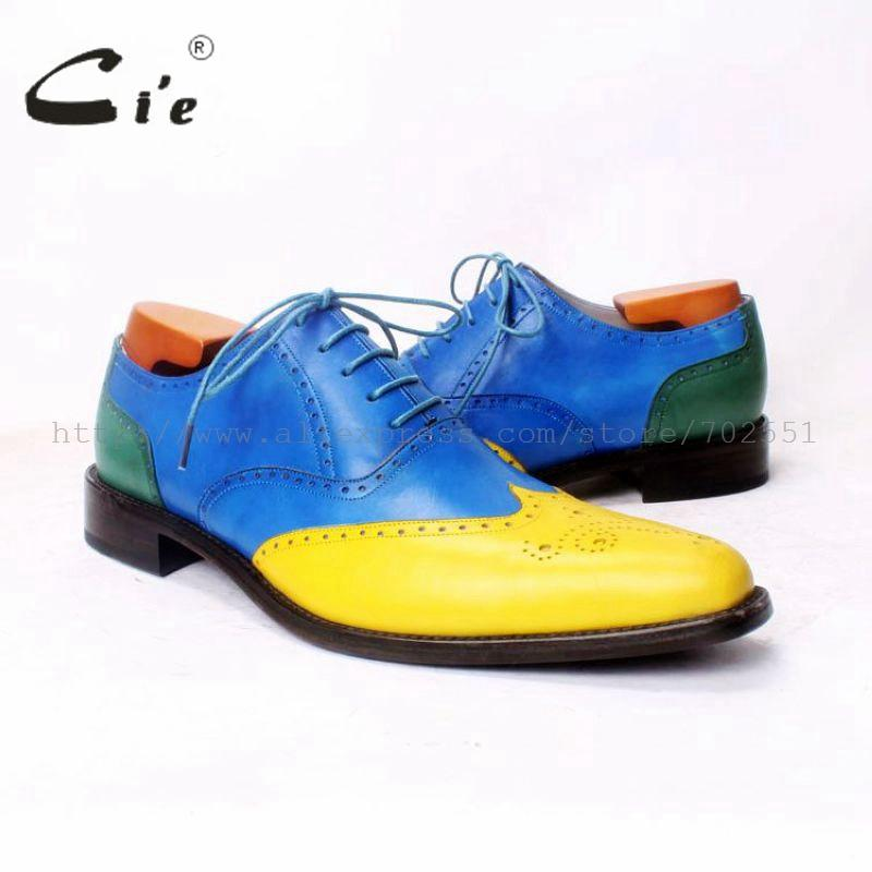 cie BespokeMen Shoe Handmade Men shoe Men's Oxfords Pure Leather Size6-14 Calf Leather Outsole Breathable High Quality OX371