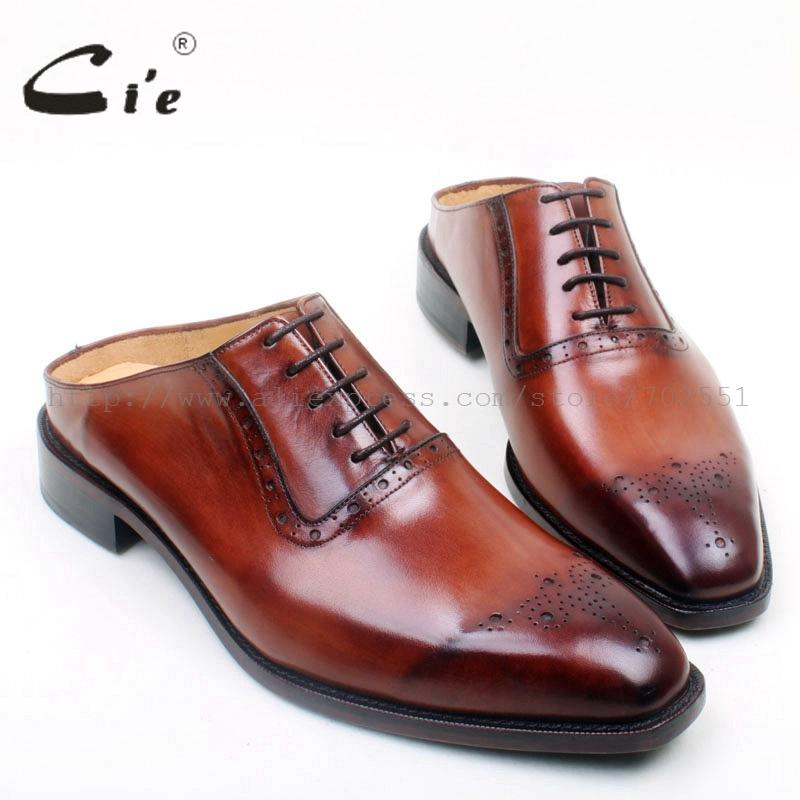 cie Free Shipping Custom Bespoke Handmade Captoe Men's Oxford Lacing Leather Outsole Breathable suits try-on shoe slippers OX692