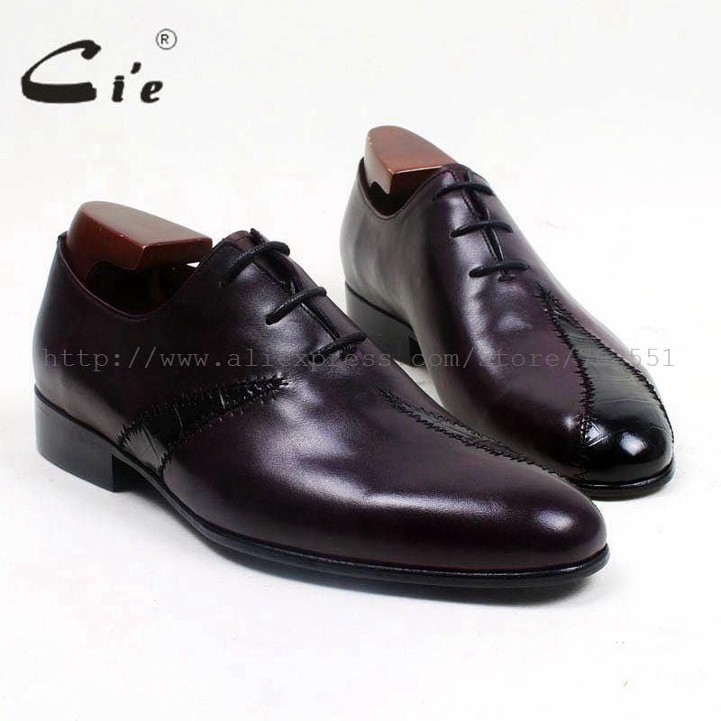 cie Round Toe Mackay/Blake Custom Handmade Calf Genuine Leather Outsole Breathable Men's Casual Oxfords Color Purple Shoe OX519