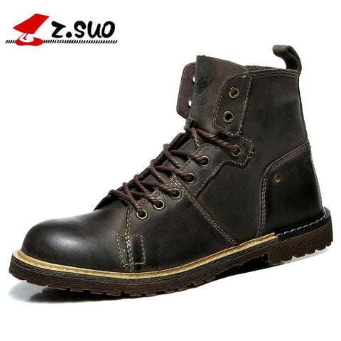 Z. Suo men 's boots, high quality leather fashion tooling boots man, leisure fashion qiu dong man  boots. zs0213