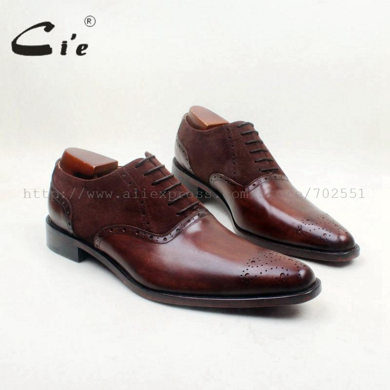 cie Pointed Toe Bespoke Custom Handmade Calf Leather Breathable Brown Mix Colors Men's Dress/casual Oxford Lace-Up shoe OX707