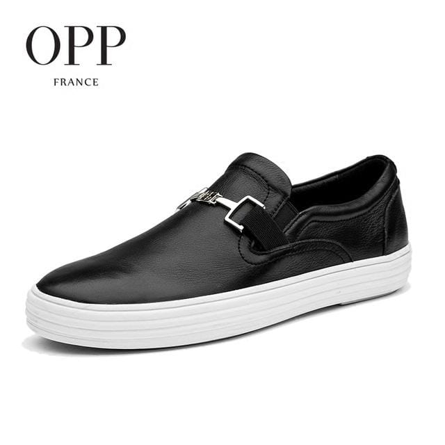 OPP 2017S ummer Mens Casual Footwear Young Flats Cow Leather Flats Men Shoes Genuine Leather Loafers For Men Shoes moccasins