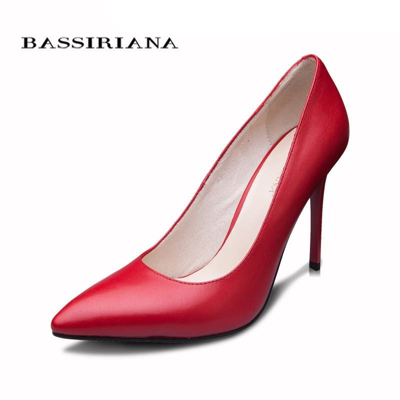 BASSIRIANA 2016 New High-heeled Shoes Woman Pumps Wedding Shoes Fashion Sexy Women Shoes Classic  Black High Heels