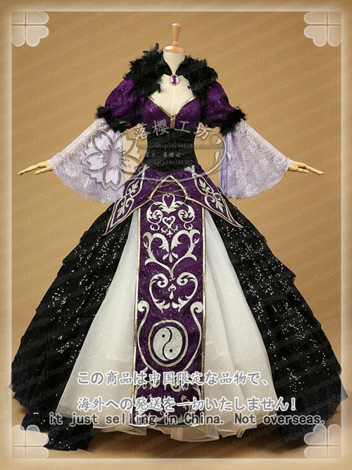 The Touhou Project Yukari Yakumo Cosplay Costume Halloween Luxury Party Dress Custom-made - EM