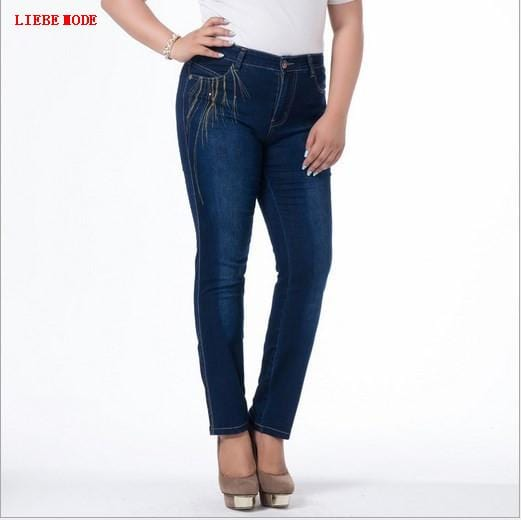 Womens Push Up Blue Jeans Long Pants Big Size Stretch Denim Jeans For Women High Waisted Pencil Jeans Mujer 4XL 5XL 6XL 7XL