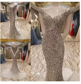 Beading Prom Evening dresses Sexy evening dress propose a toast the bride formal dress Mermaid sexy party gown