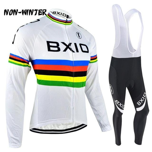 BXIO Cycling Jersey Sets Salopette Mountain Bike Velo Maillot Ciclismo Pro Tour Bicycle Italie Cuissard Cycliste Equipe 048