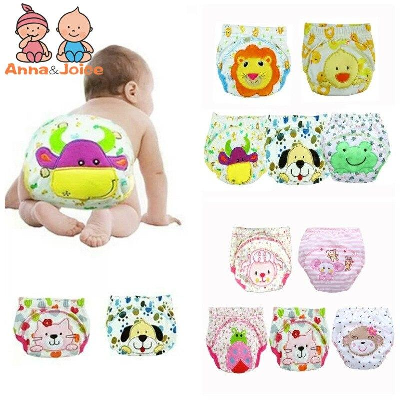 30pc/ Lot 24designs! Baby Diapers Children Reusable Underwear Breathable Diaper Cover Cotton Training Pants Can Tracked TRX0001 - EM
