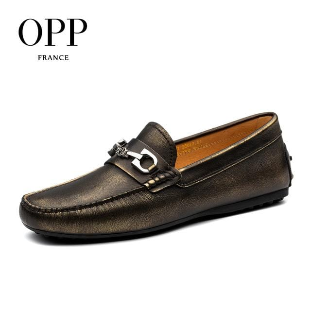 OPP 2017 Genuine Leather Loafers For Men Shoes moccasins Summer Mens Footwear Cow Leather Flats Casual Comfortable Driving Shoes