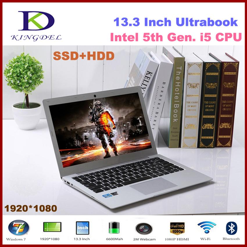"Kingdel Powerful 13.3""Laptop Computer,Ultrabook,Intel i5 5th Gen i5 5200U, 8GB RAM 512GB SSD,1920*1080,8 Cell Battery,Windows 10 - EM"