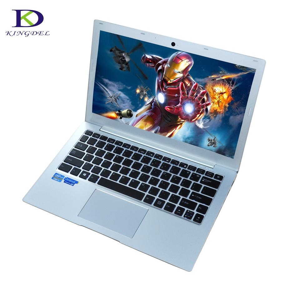 Hot selling UltraSlim laptop computer i7 7500U windows 10 4M Cache DDR4 nuc Intel Graphics Backlit Keyboard PC Ultrabook wifi - EM