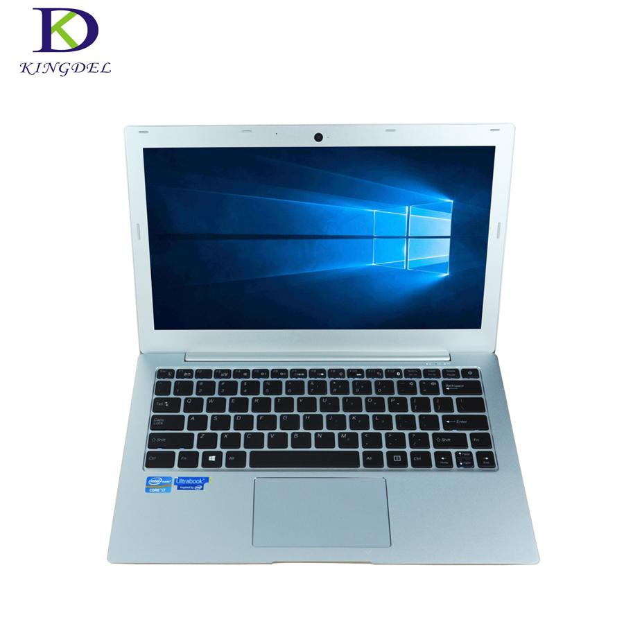 Newest laptop computer 13.3 Inch 7200U Fast Run Ultrathin Notebook Computer plus win10 bluetooth HDMI Type-c SD Backlit Keyboard - EM