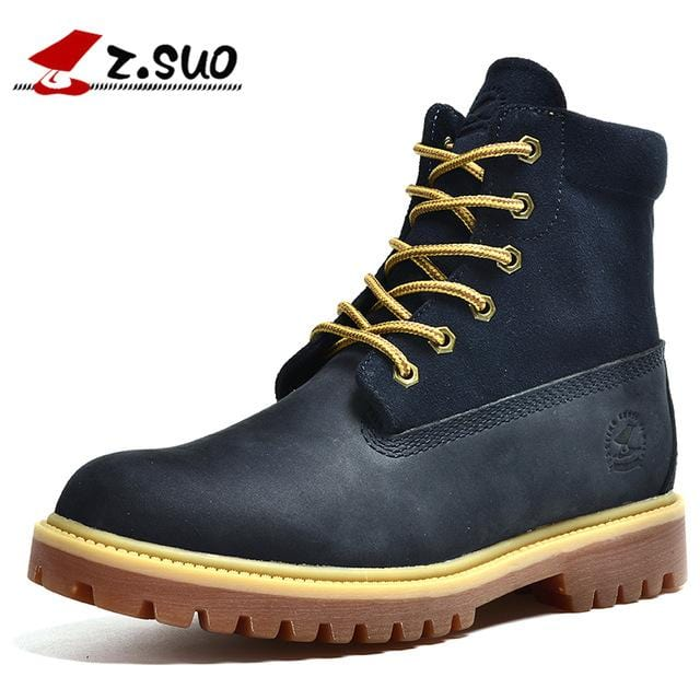 New Arrival Winter Genuine Leather Men  Ankle Boots Brown Casual  Flats  Autumn Male Outdoor Shoes Mens Fashion Boots Size 1208B