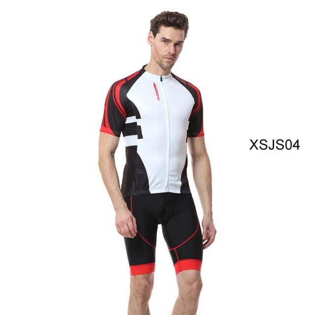 XINTOWN Roupa Bike Jersey Set Cycling Clothing Bicycle Outdoors Triathlon Tour De France Black Short Sleeves Maillot Velo