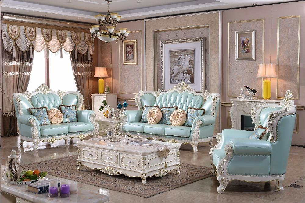 Sofas For Living Room Hot Sale Cheap Price Furniture Good Quality 321 Leather Sofa Luxury French Style Solid Italian Genuine - EM