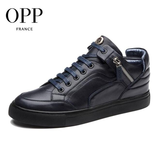 OPP men boots Genuine Leather shoes Winter Boots men Full Grain Leather Shoes