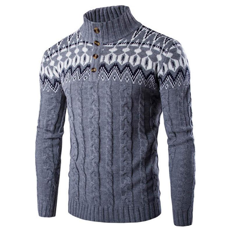 New Autumn Winter Fashion Brand Men Clothes Casual Sweater Jumper Coat Casual Elastic Knitwear Male Knitted Sweaters Pullover - EM