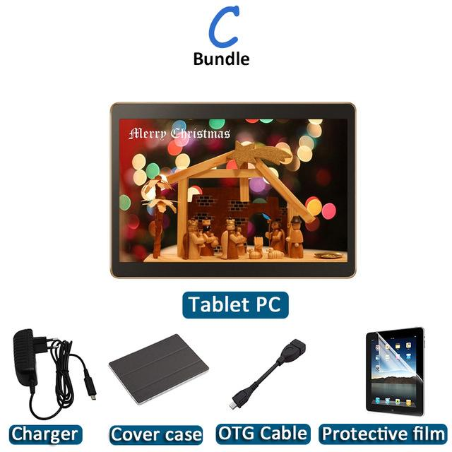 Octa Core Tablet Android Phone and Call Tablet PC Computer Tablette with Bluetooth/GPS - EM