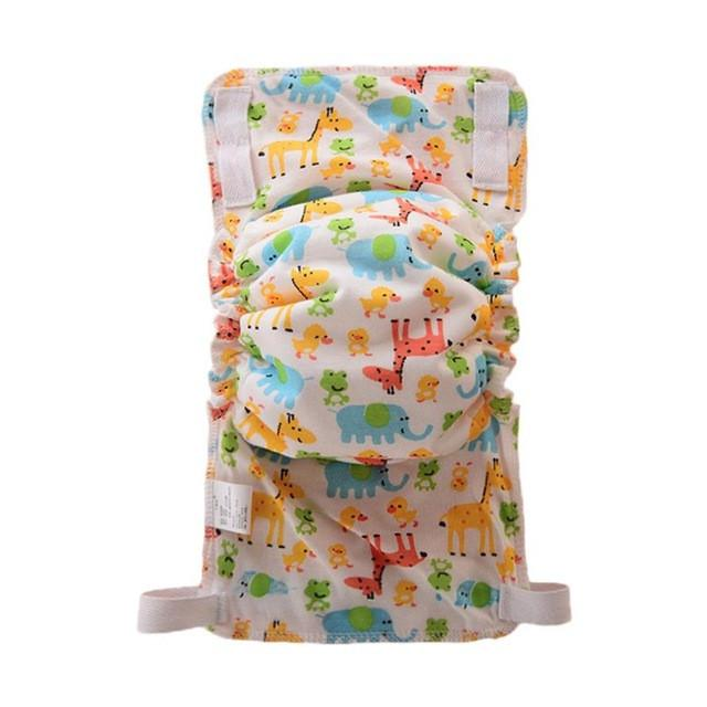 1Pcs Cute Baby Diapers Reusable Nappies Cloth Diaper Washable Infants Children Baby Cotton Training Pants Panties Nappy Changing - EM
