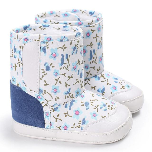 6b15adbf1ea26 Baby girls boy winter boots camouflage Baby Soft Sole Snow Boots Soft Crib  Shoes Toddler Cotton
