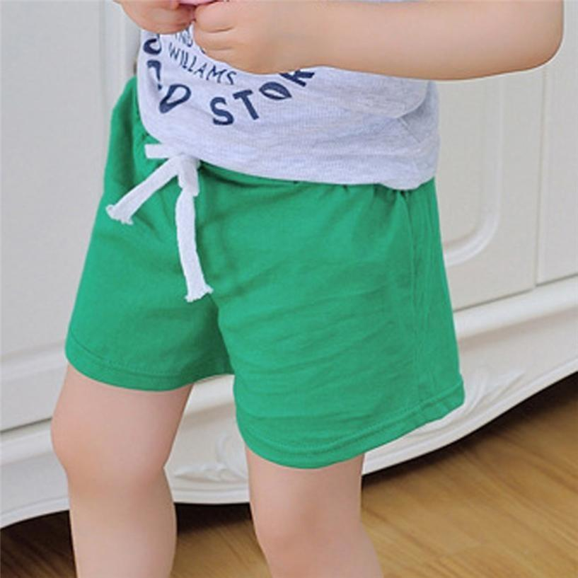Boys Shorts Kids Clothes 2017 Children Summer Beach Shorts for Boys Girls Clothing Solid Color Cotton Unisex Baby Shorts Fille - EM