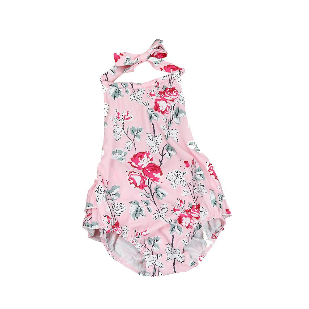 2017 Summer Infant Baby Girls Rompers Floral Sleeveless Newborn Jumpsuit Outfit Baby Girl Clothing Romper Photography Props - EM