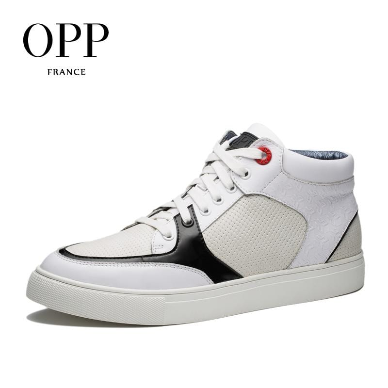 OPP High Top Men boots 2017 Genuine Leather Men Shoes Winter Boots Patchwork men Shoes Ankle Boots for men