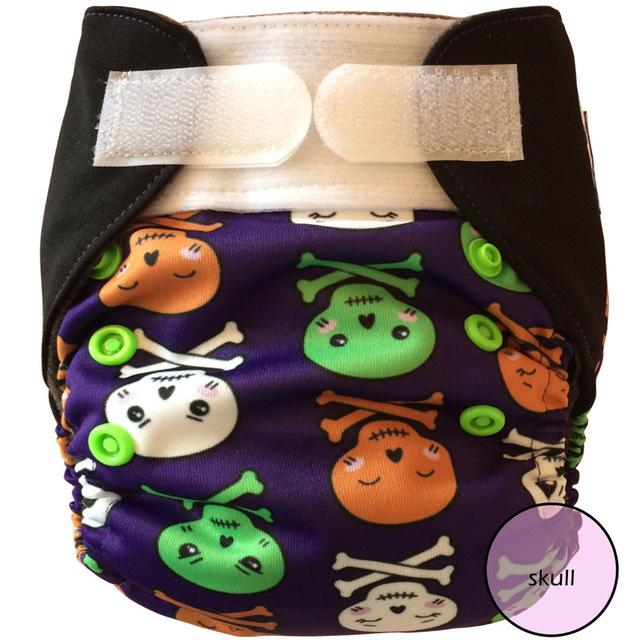 Miababy (3pcs/lot) NB&S Pocket&AIO cloth diaper with HEMP insert, fit 0-6 months baby or 6-19lbs baby - EM