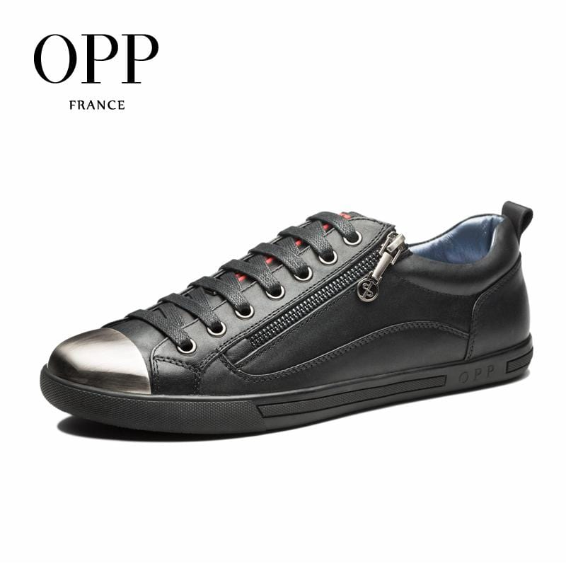 OPP Genuine Leather Men Shoes Casual Shoes For Men Metal Toe moccasins hombre Fashion Men Loafers for Men Flats