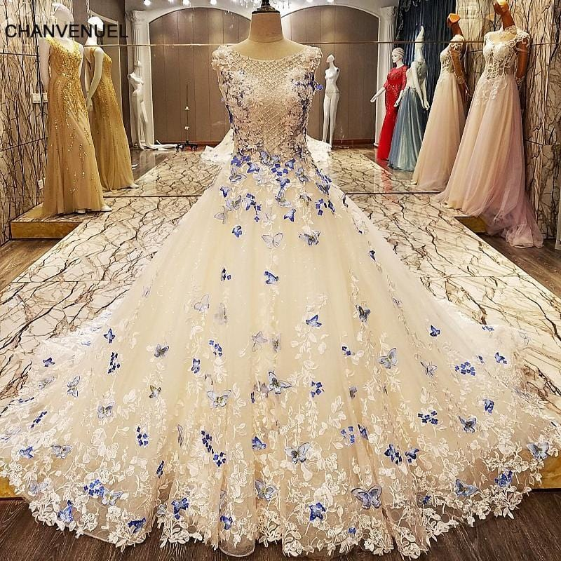 LS8763 robe soiree longue femme 2017 A line elegant party evening dresses long 2017 with butterfly lace real photos