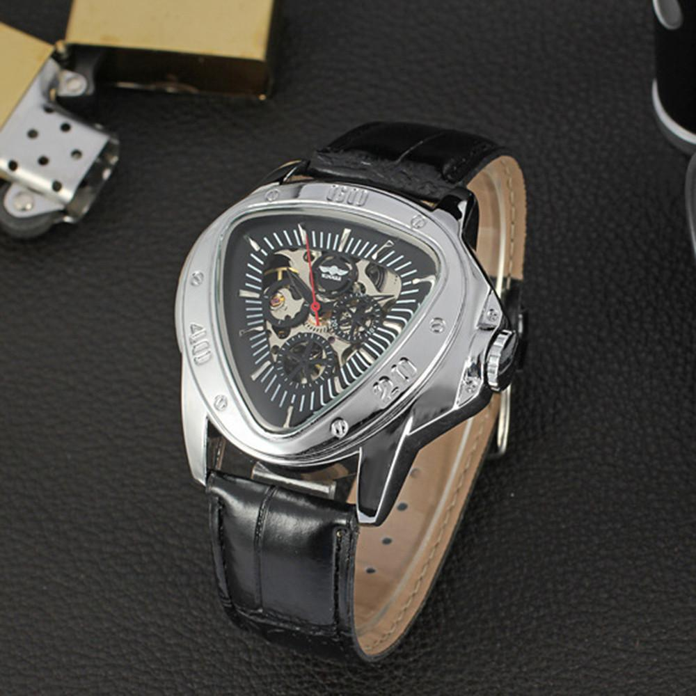 Winner Mens Watches Top Brand Luxury Automatic Watch Men Triangle Watch Clock - EM