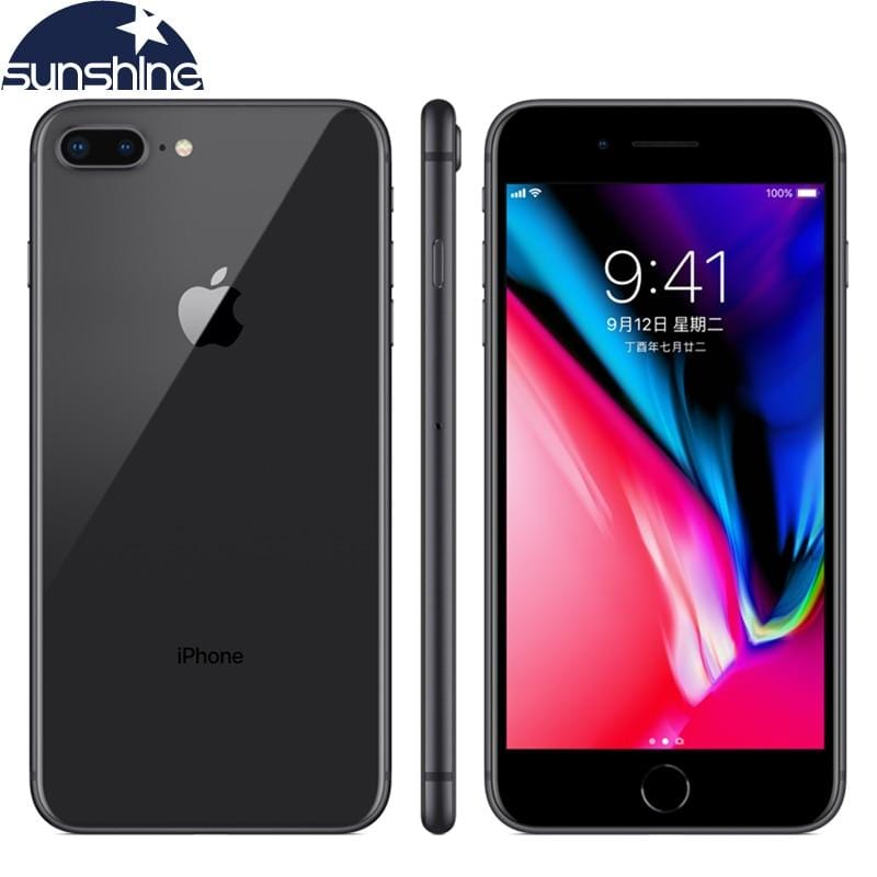 Unlocked Original Apple iPhone 8 Plus 4G LTE Cell phones 3GB RAM 64/256GB ROM 5.5' 12.0 MP Hexa-core Fingerprint Mobile phone - EM